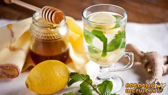 средство от простуды имбирь, мед и лимон