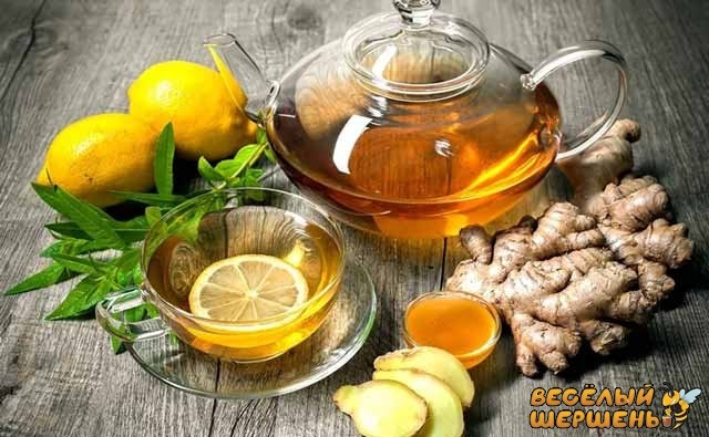 Рецепт от простуды - имбирный чай с лимоном и медом. Отзывы