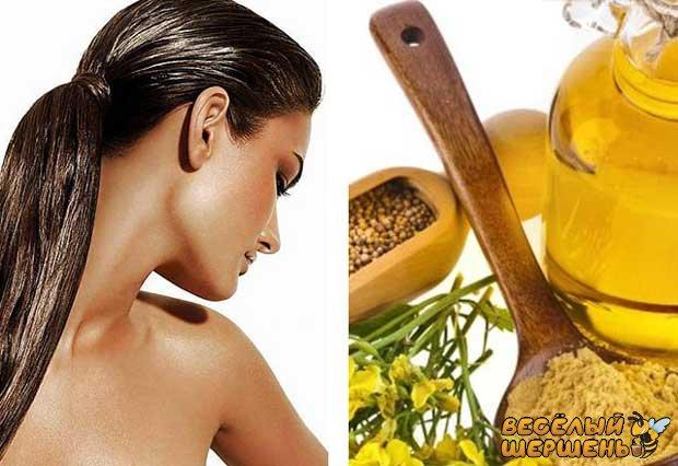 Маска для волосся з гірчицею і медом